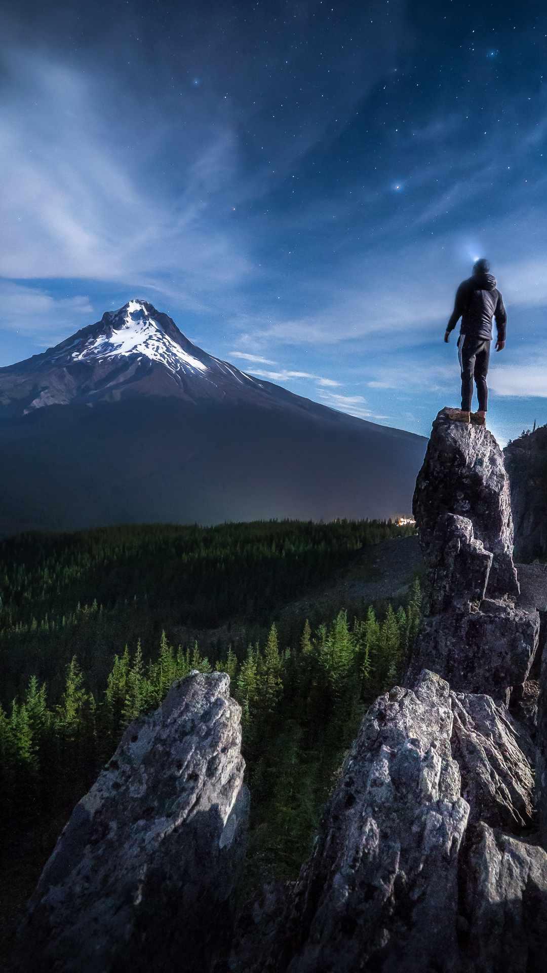 Adventure at Mountain iPhone Wallpaper