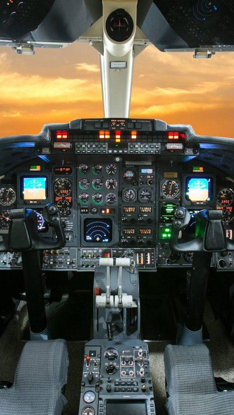 Aircraft Cockpit iPhone Wallpaper