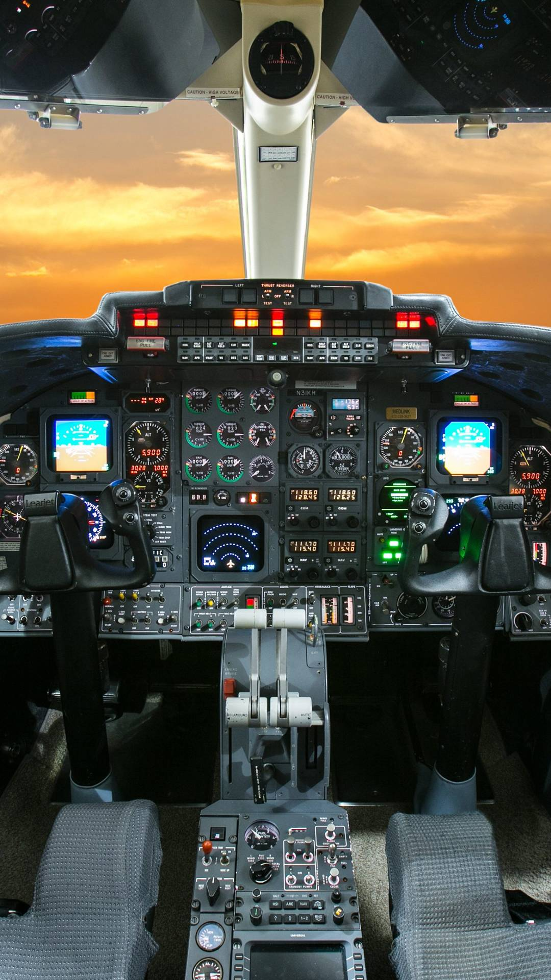 Aircraft Cockpit iPhone Wallpaper