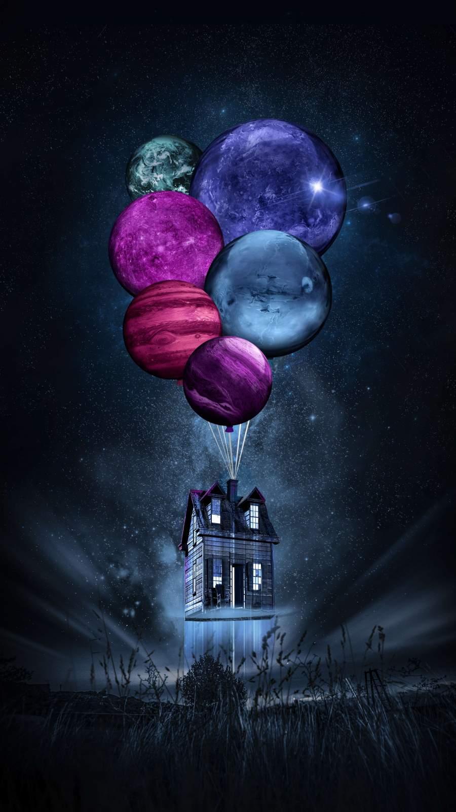 Amoled Balloons iPhone Wallpaper