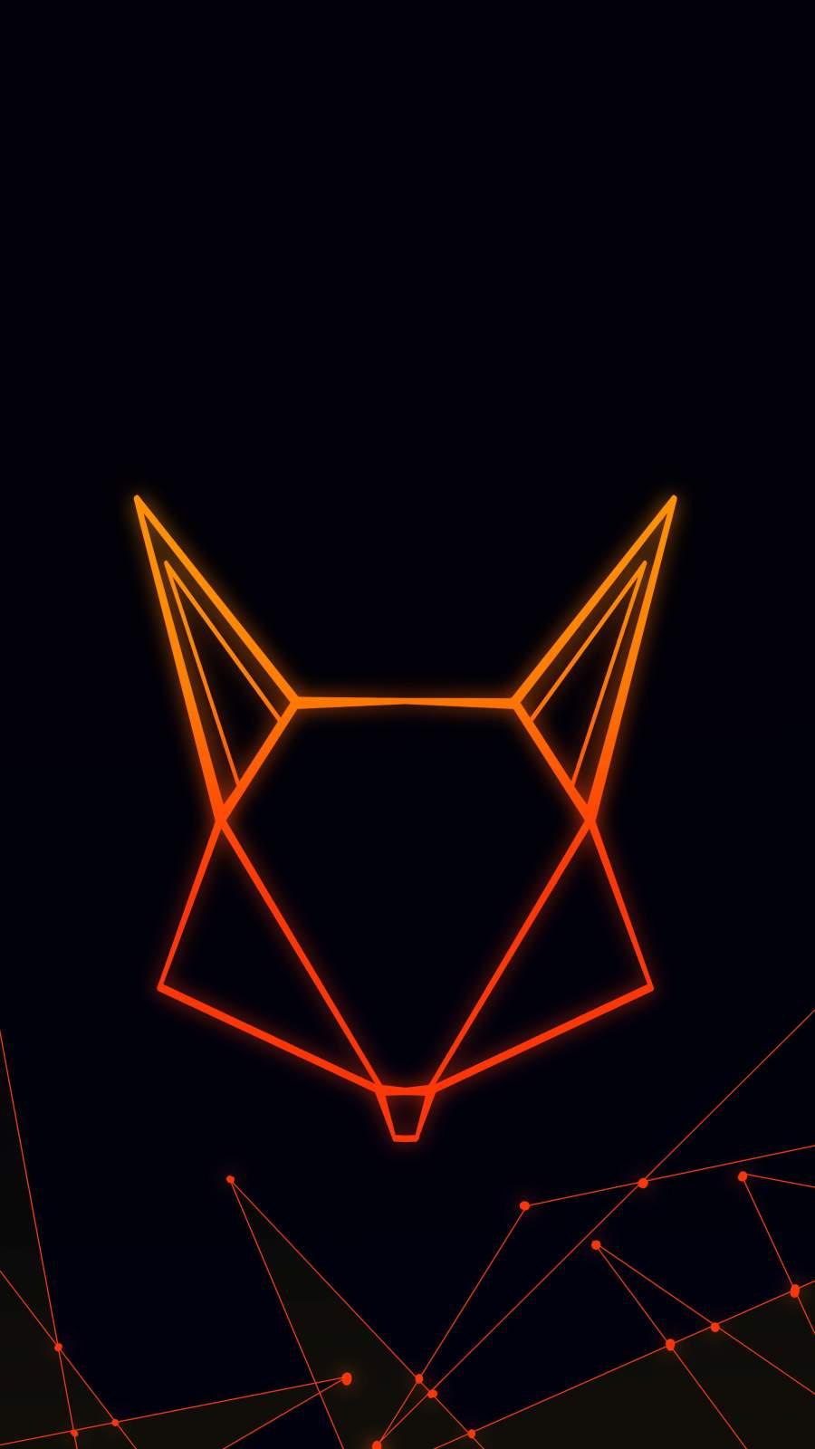Amoled Fox iPhone Wallpaper