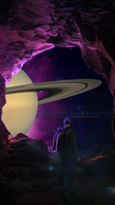 Asteroid Journey iPhone Wallpaper