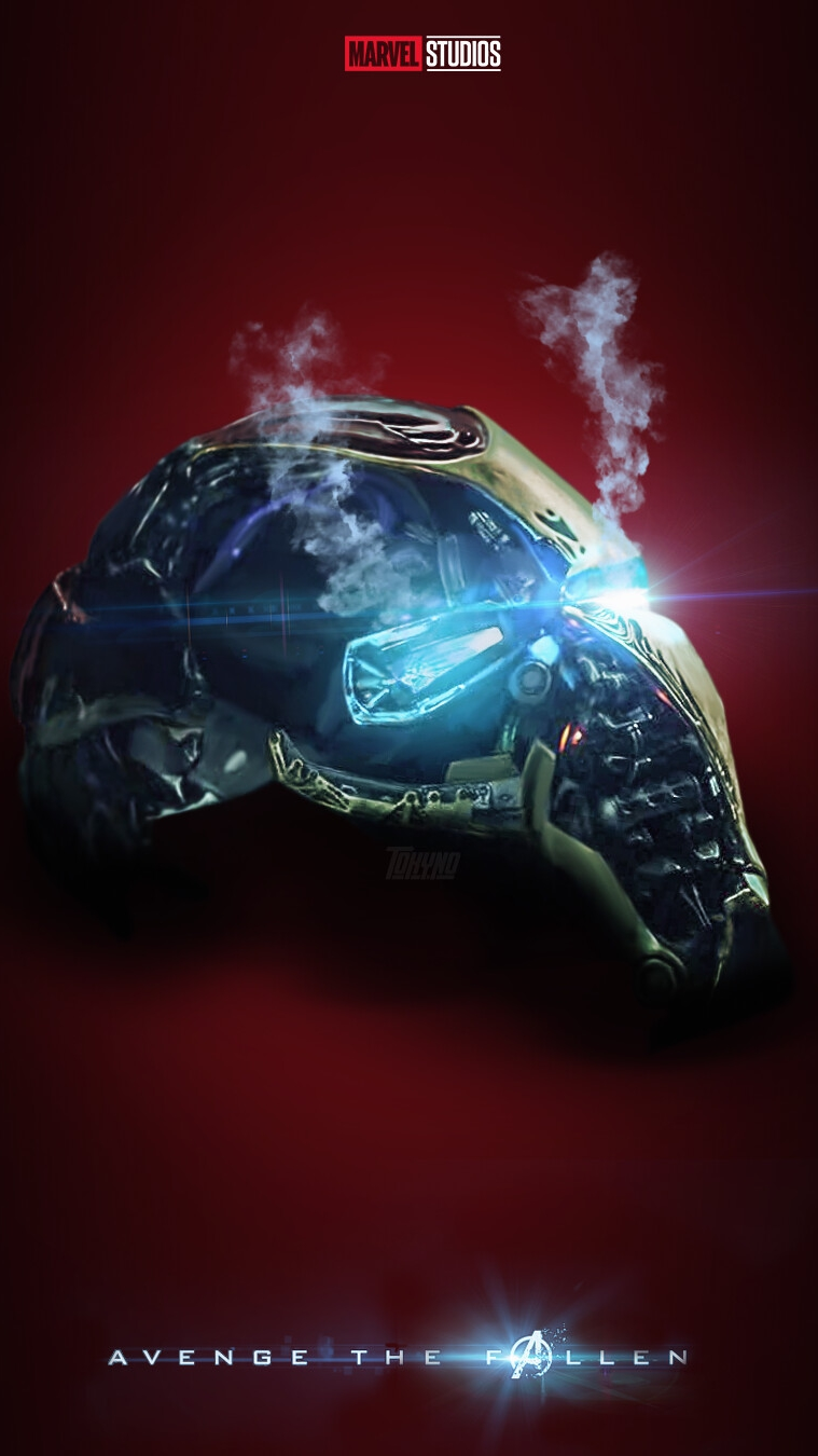Avengers Endgame Iron Man Helmet iPhone Wallpaper
