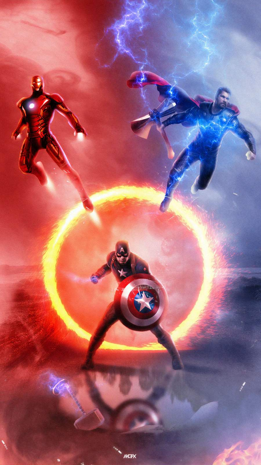 Avengers Endgame Trinity iPhone Wallpaper
