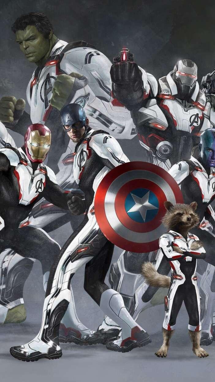 Avengers Quantum Suit Team iPhone Wallpaper