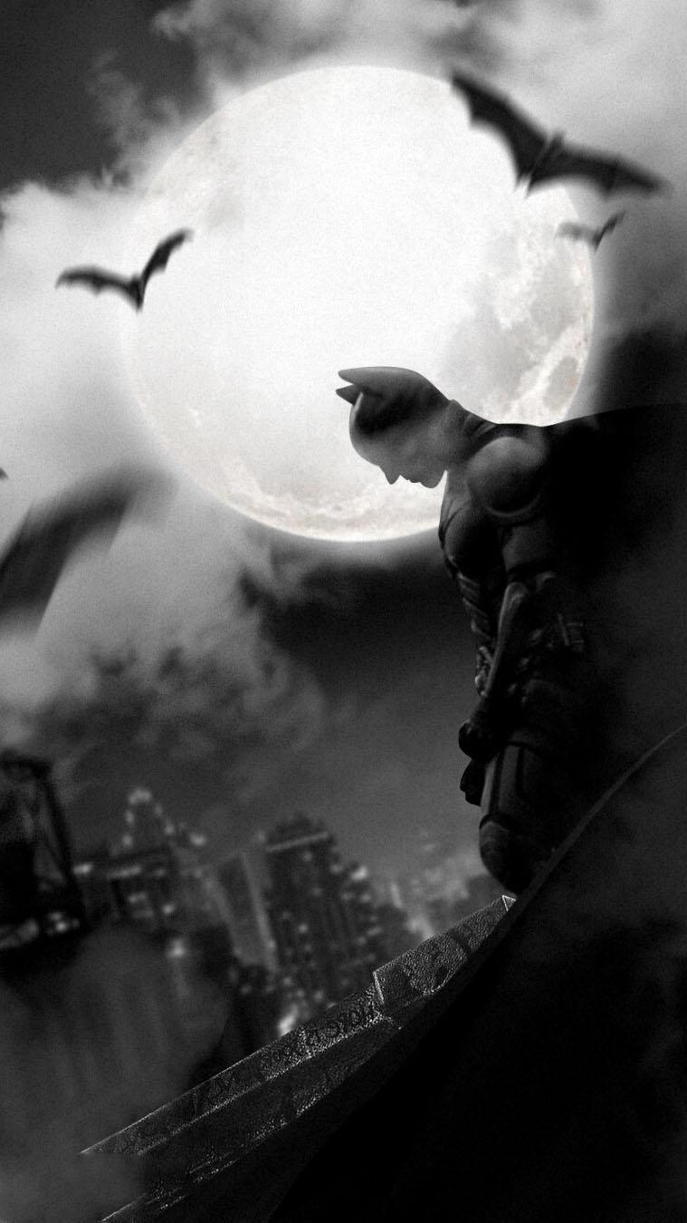 Bat Night iPhone Wallpaper