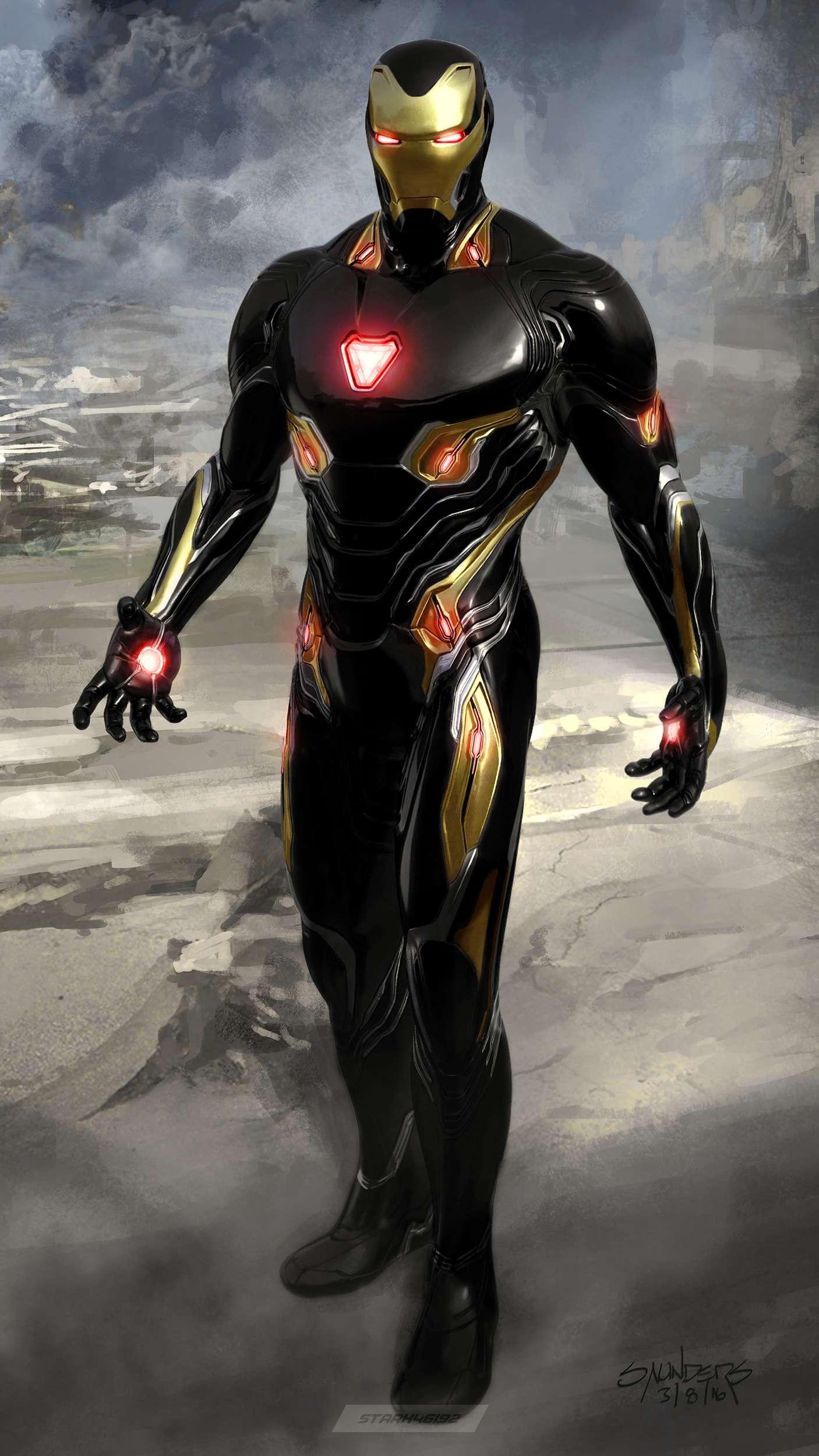 Black Armor Iron Man iPhone Wallpaper