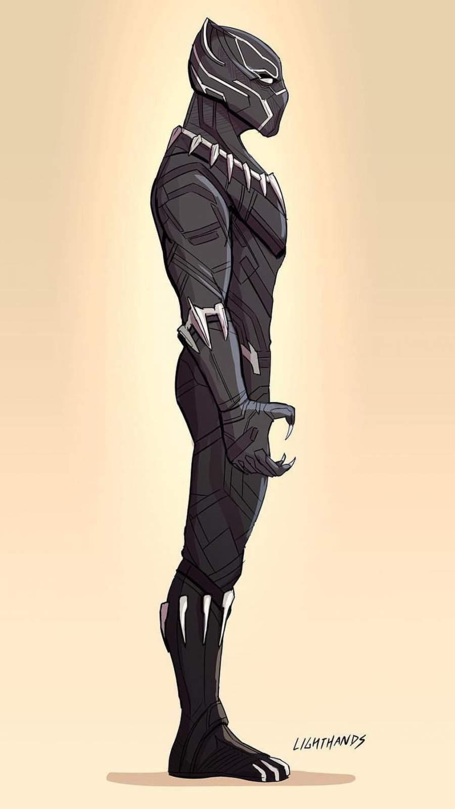 Black Panther Artwork iPhone Wallpaper
