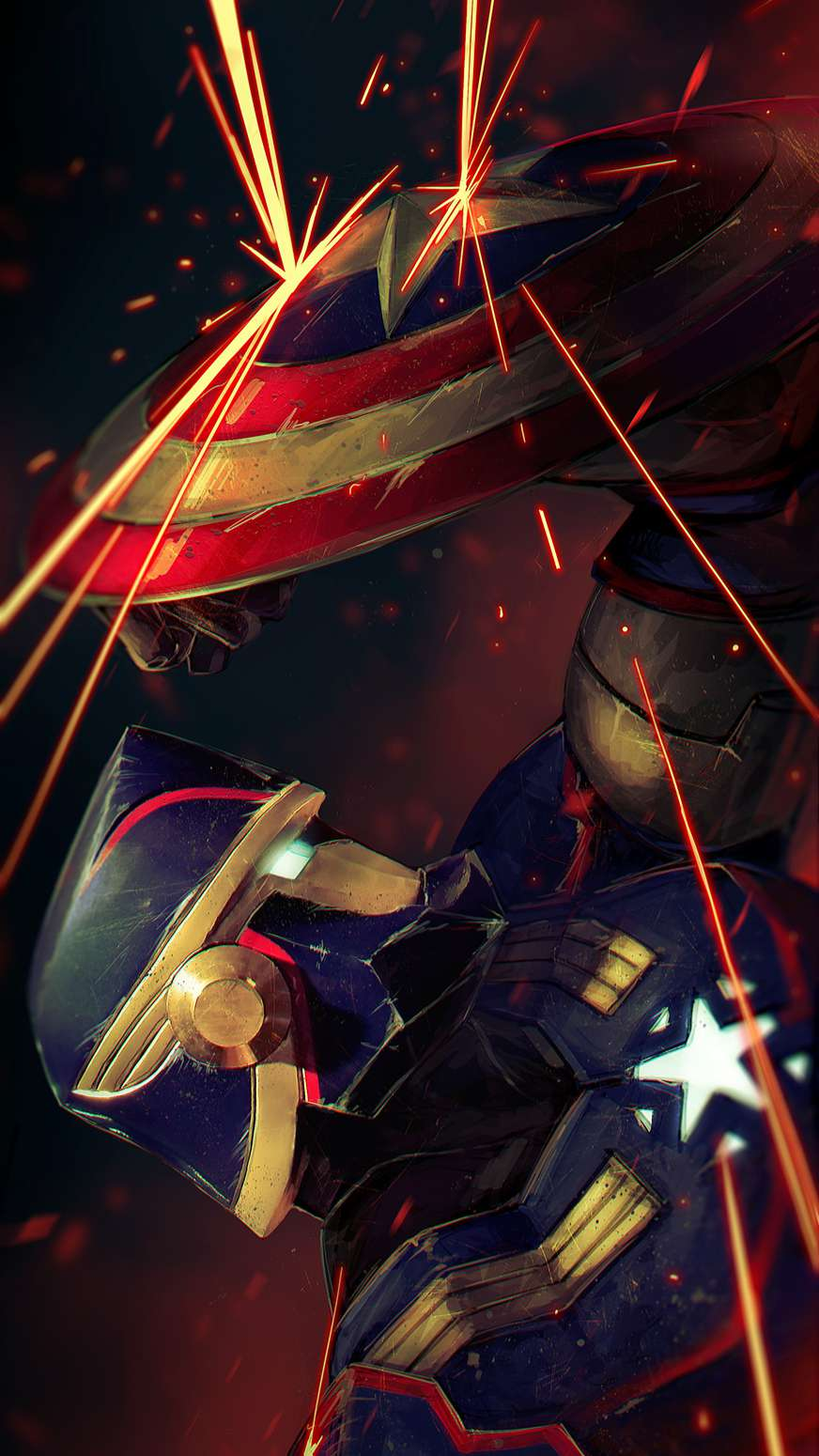 Captain America Autobot iPhone Wallpaper