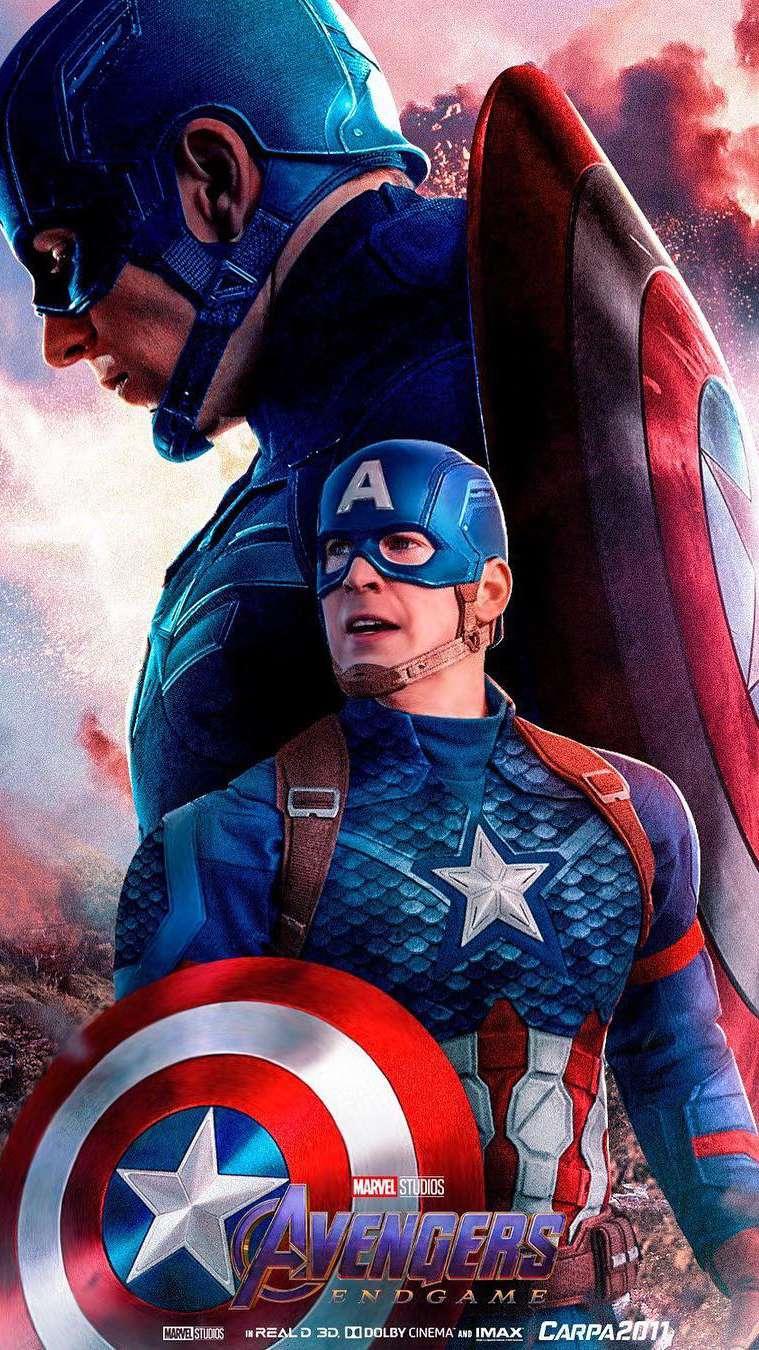 Captain America Endgame Hero iPhone Wallpaper