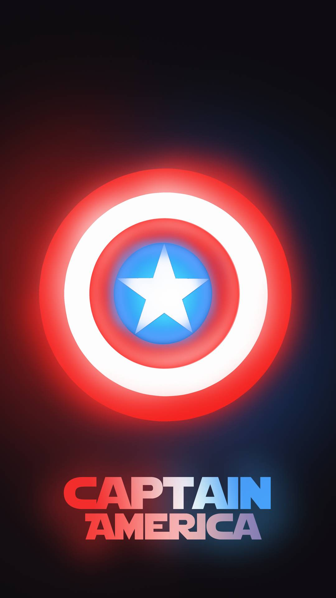 Captain America Neon iPhone Wallpaper