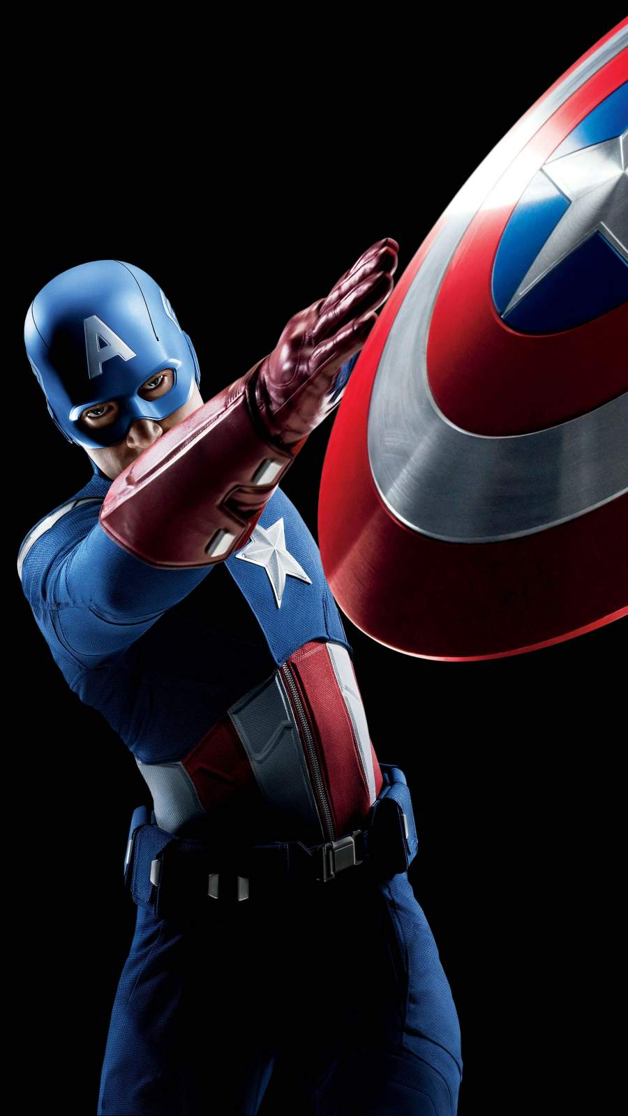 Captain America Shield Attack iPhone Wallpaper