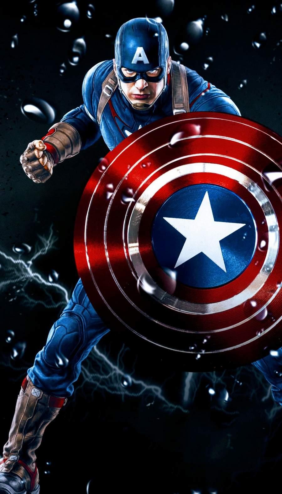Captain America The Avenger iPhone Wallpaper