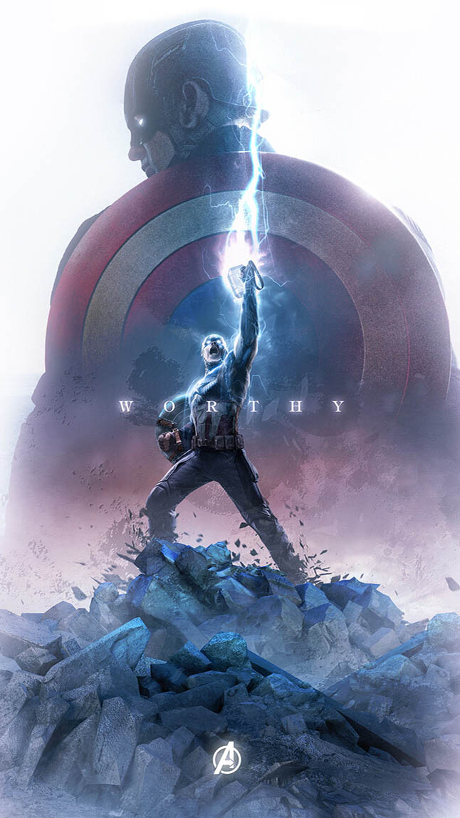 Captain America Worthy iPhone Wallpaper
