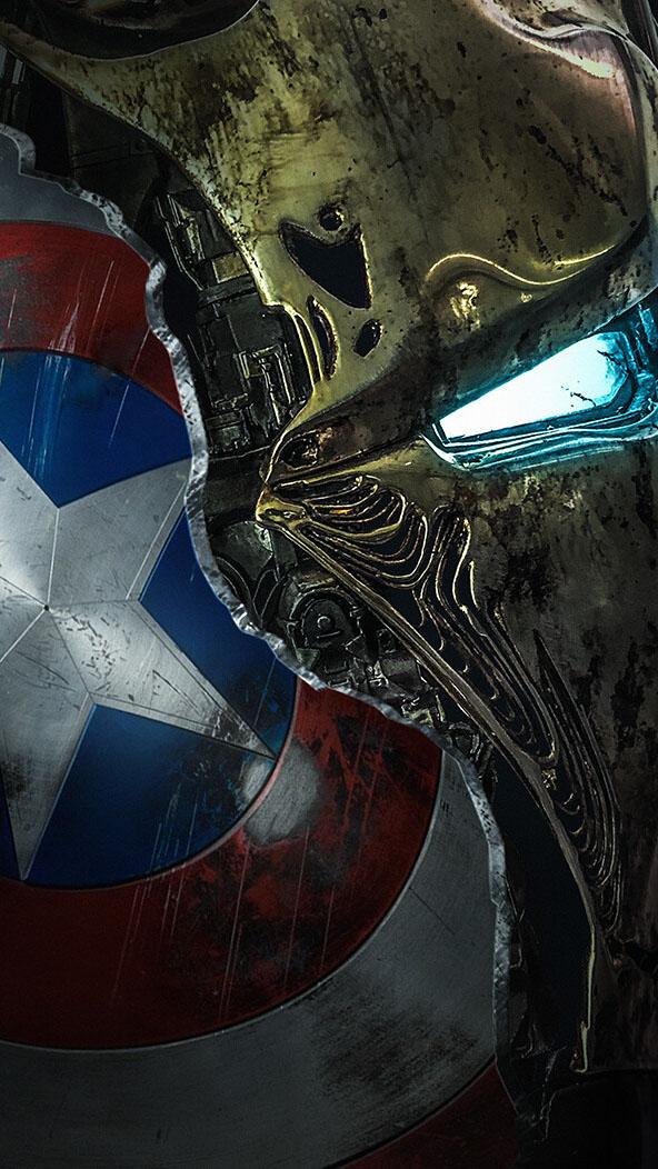 Captain Broken Shield iPhone Wallpaper