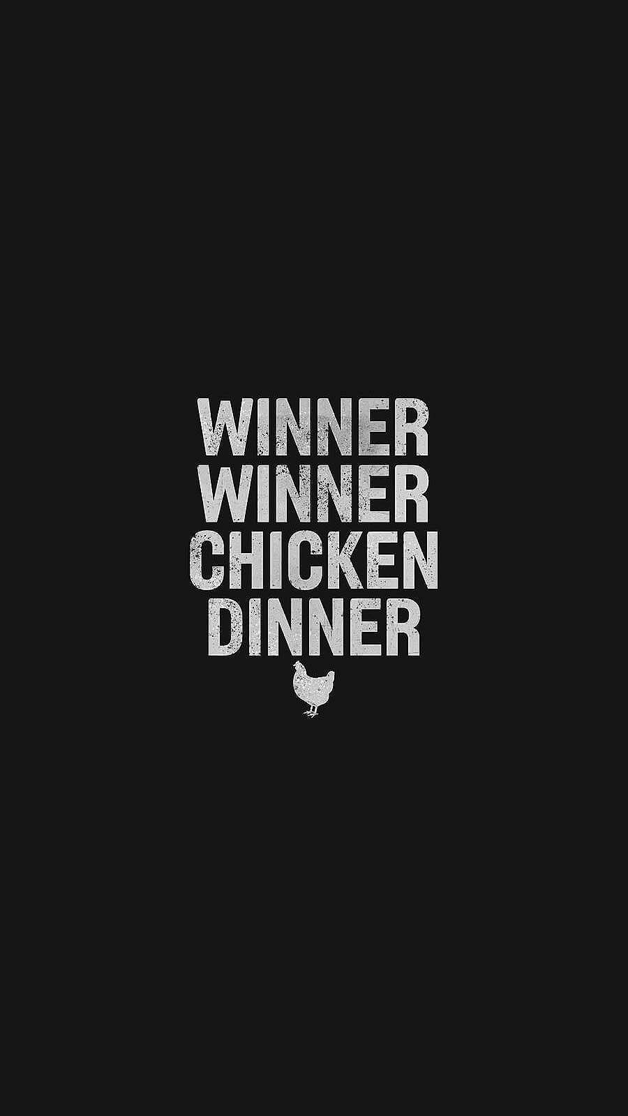 Chicken Dinner PUBG iPhone Wallpaper