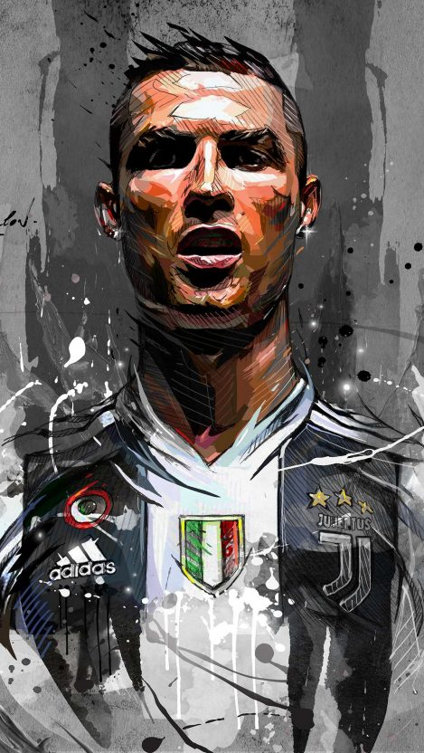 Cristiano Ronaldo Art iPhone Wallpaper