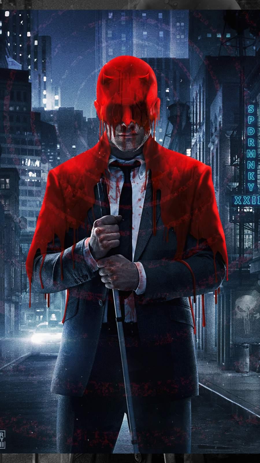 Daredevil Blood iPhone Wallpaper