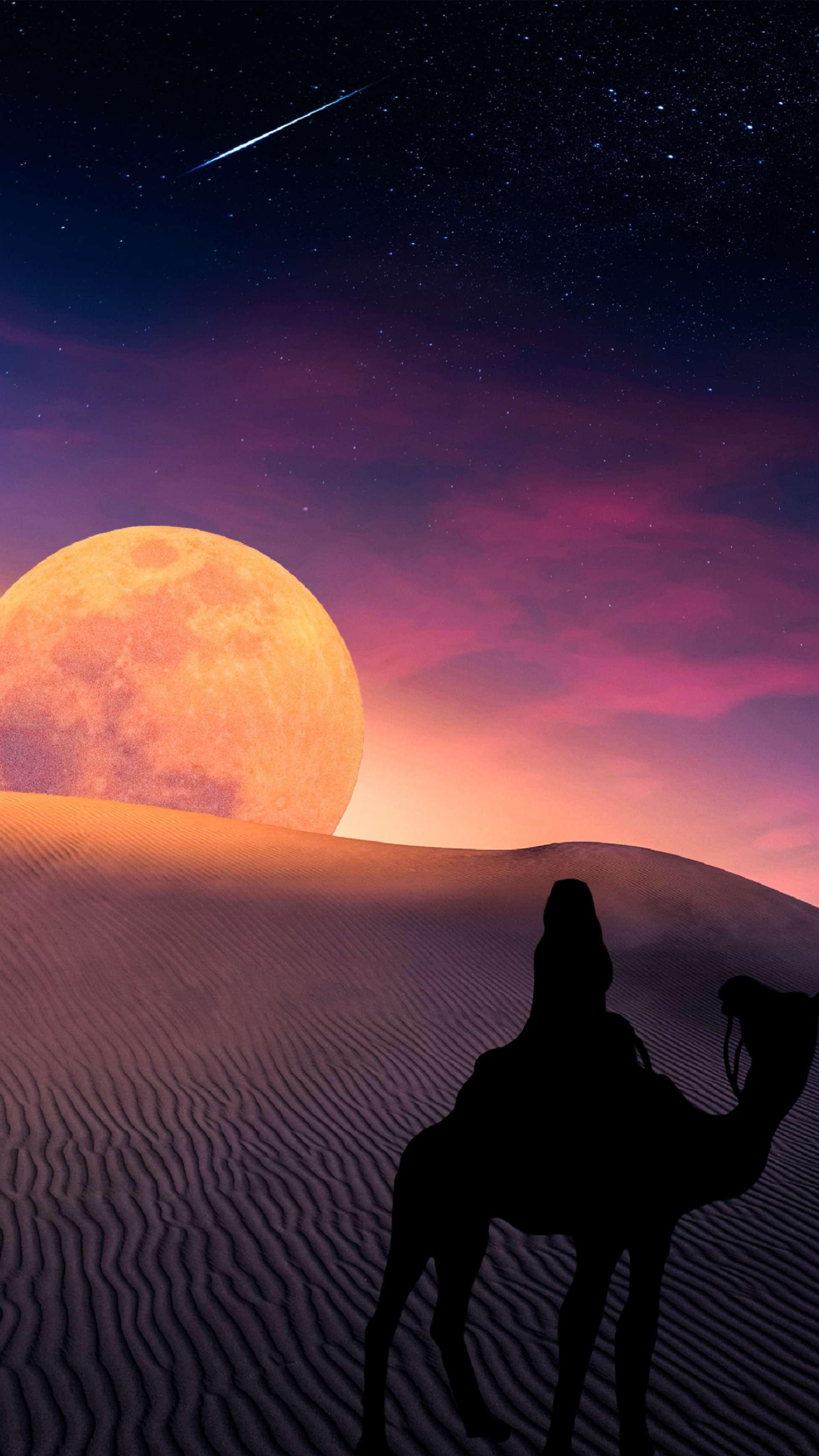 Desert Moon iPhone Wallpaper