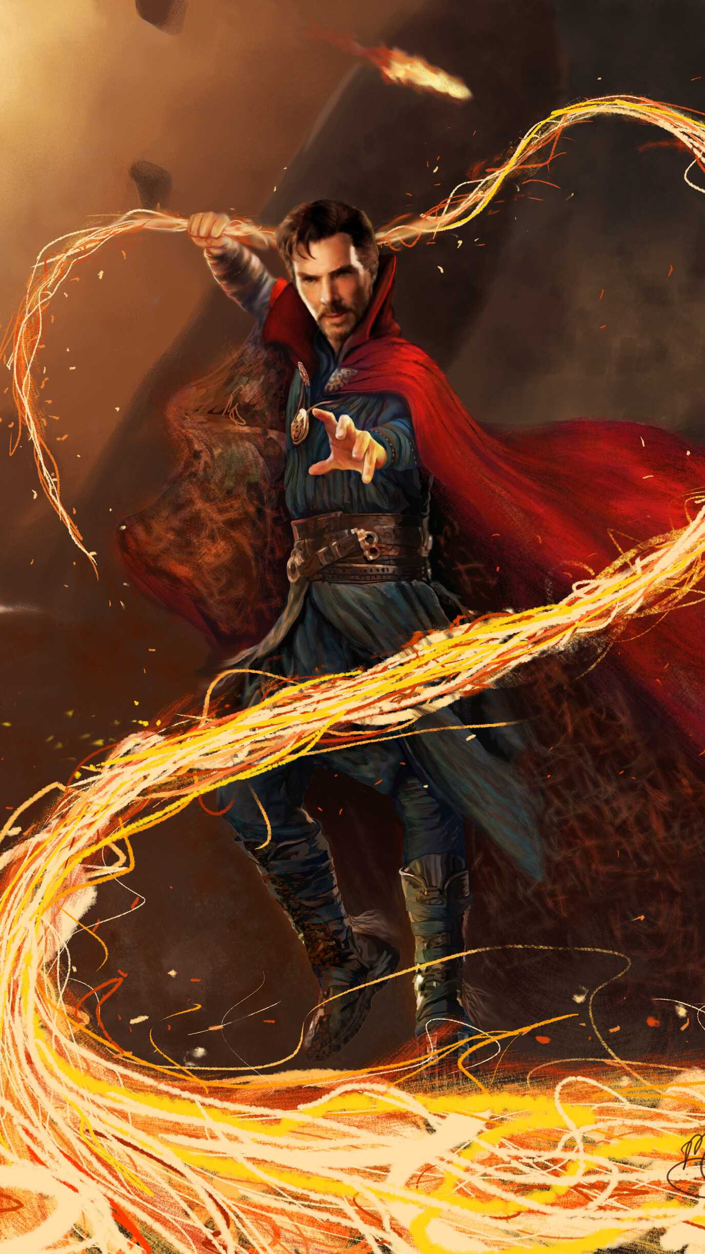 Doctor Strange Magic iPhone Wallpaper