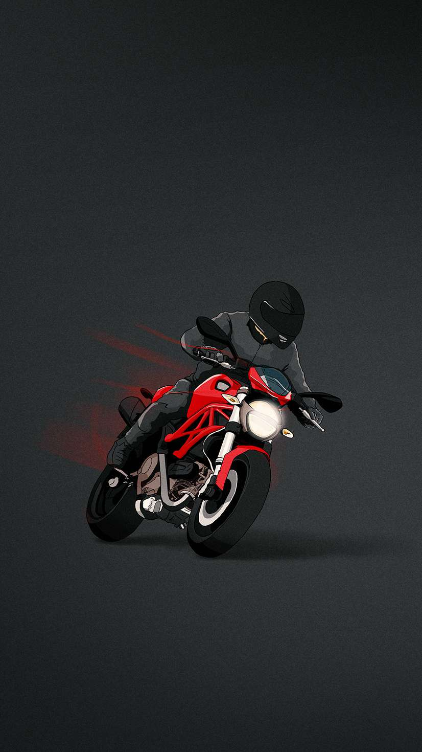 Ducati Monster Minimal iPhone Wallpaper
