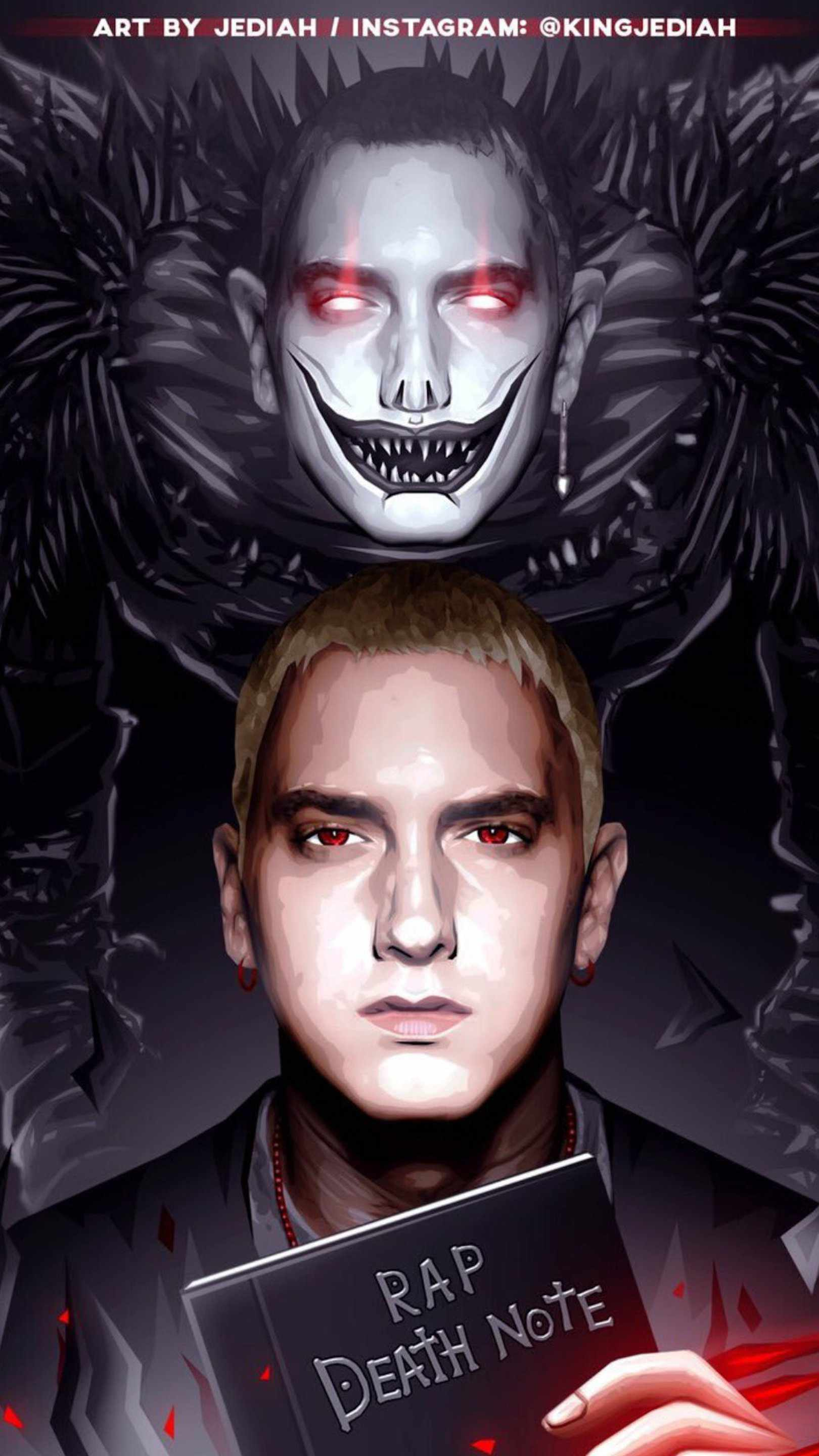 Eminem Death Note iPhone Wallpaper