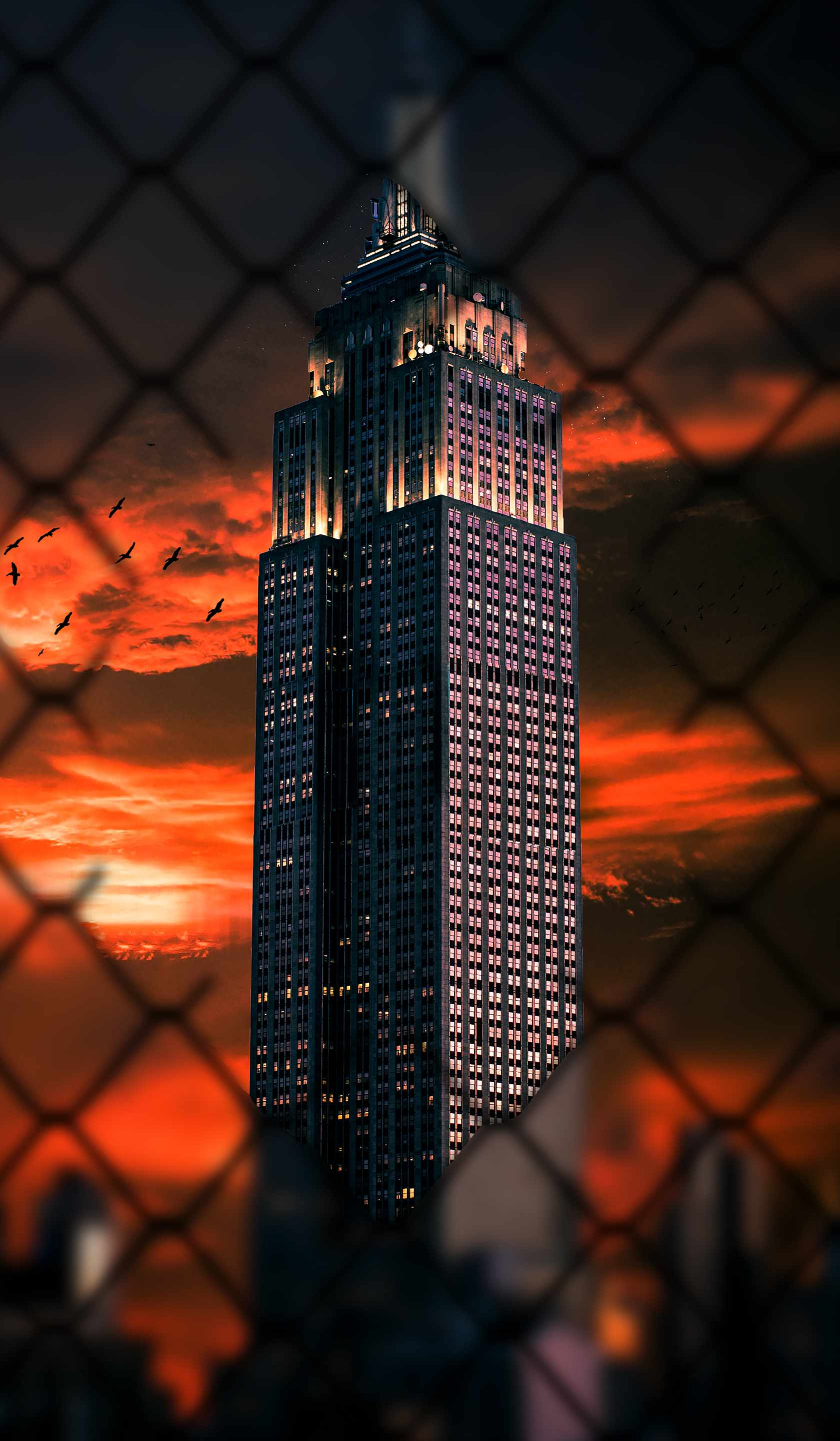 Empire State Sunset iPhone Wallpaper