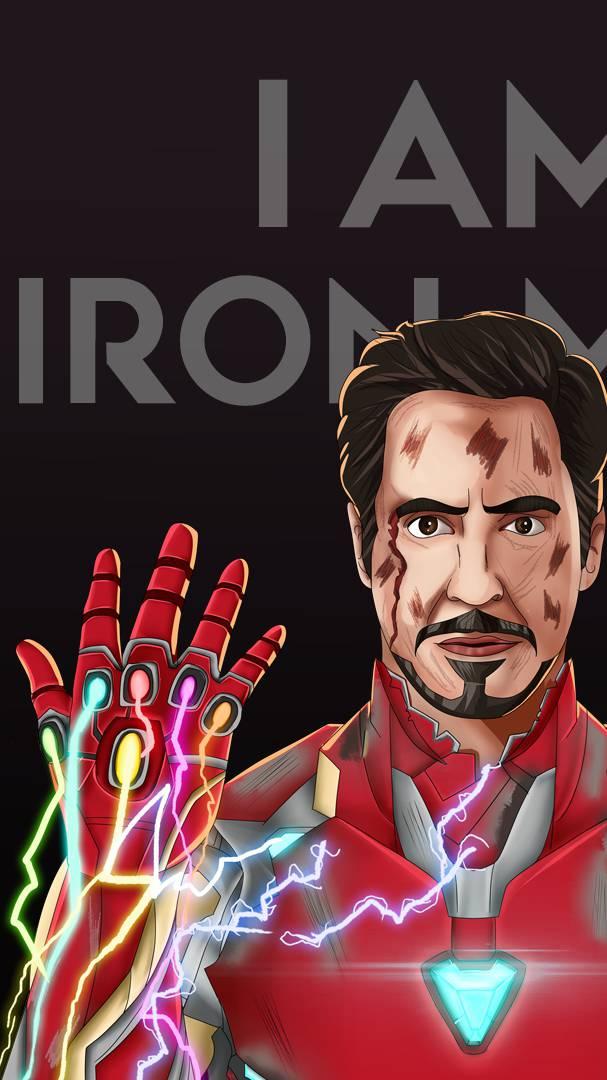 Endgame Sacrifice I am Iron Man iPhone Wallpaper