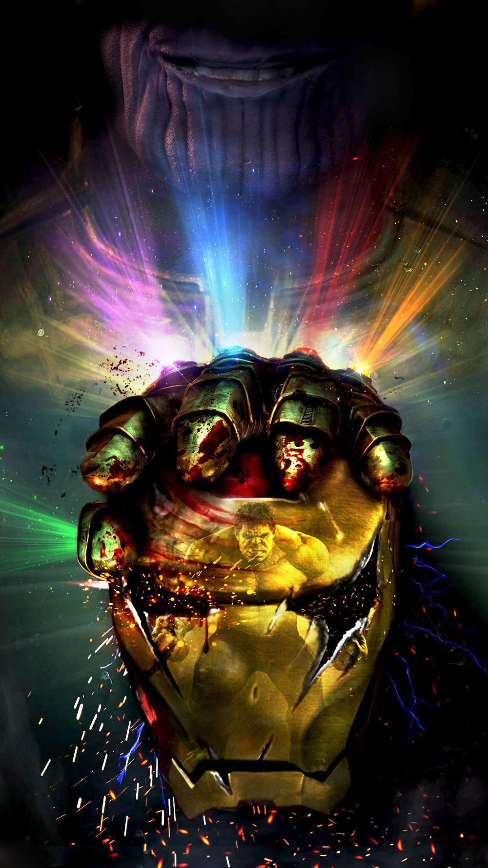 Endgame Thanos vs Ironman iPhone Wallpaper