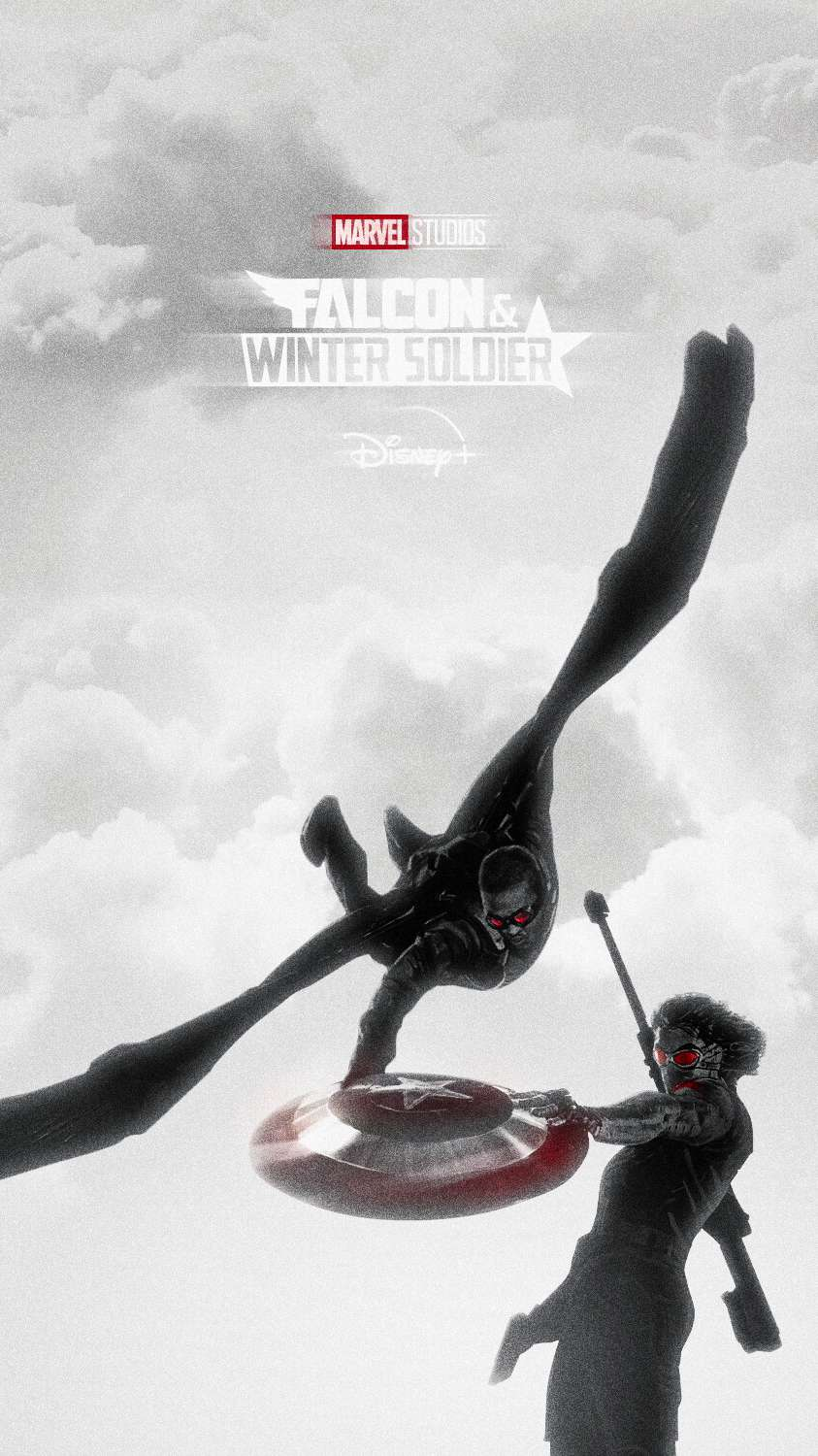 Falcon vs Winter Soldier iPhone Wallpaper