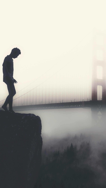 Fog at Golden Gate iPhone Wallpaper