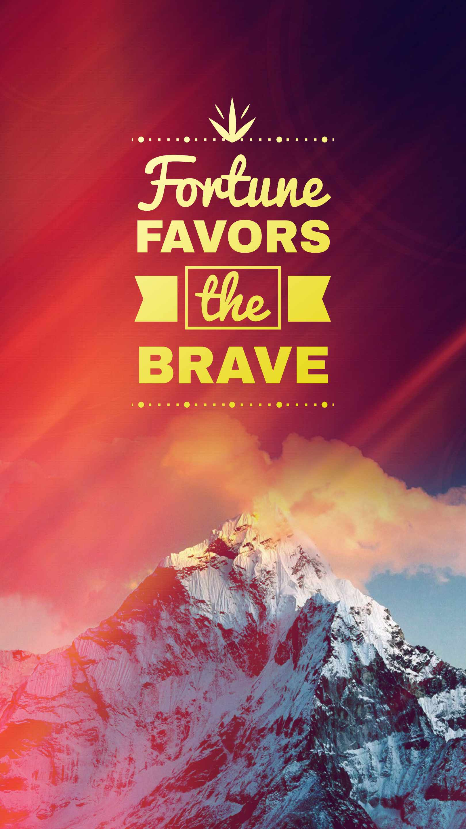 Fortune Favors the Brave iPhone Wallpaper