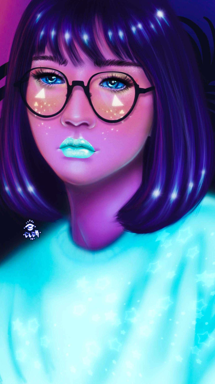 Glow Girl iPhone Wallpaper