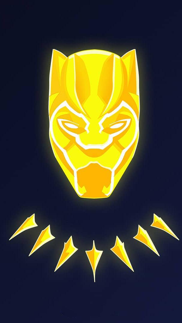Golden Black Panther iPhone Wallpaper
