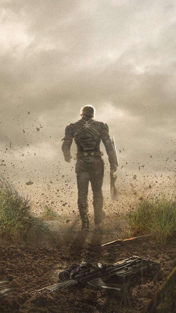 Goodbye Captain America iPhone Wallpaper