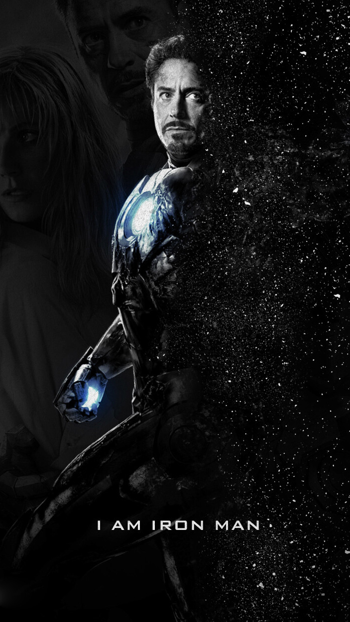 Goodbye Iron Man Art iPhone Wallpaper