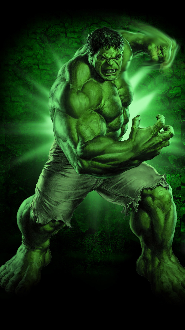 Green Hulk iPhone Wallpaper