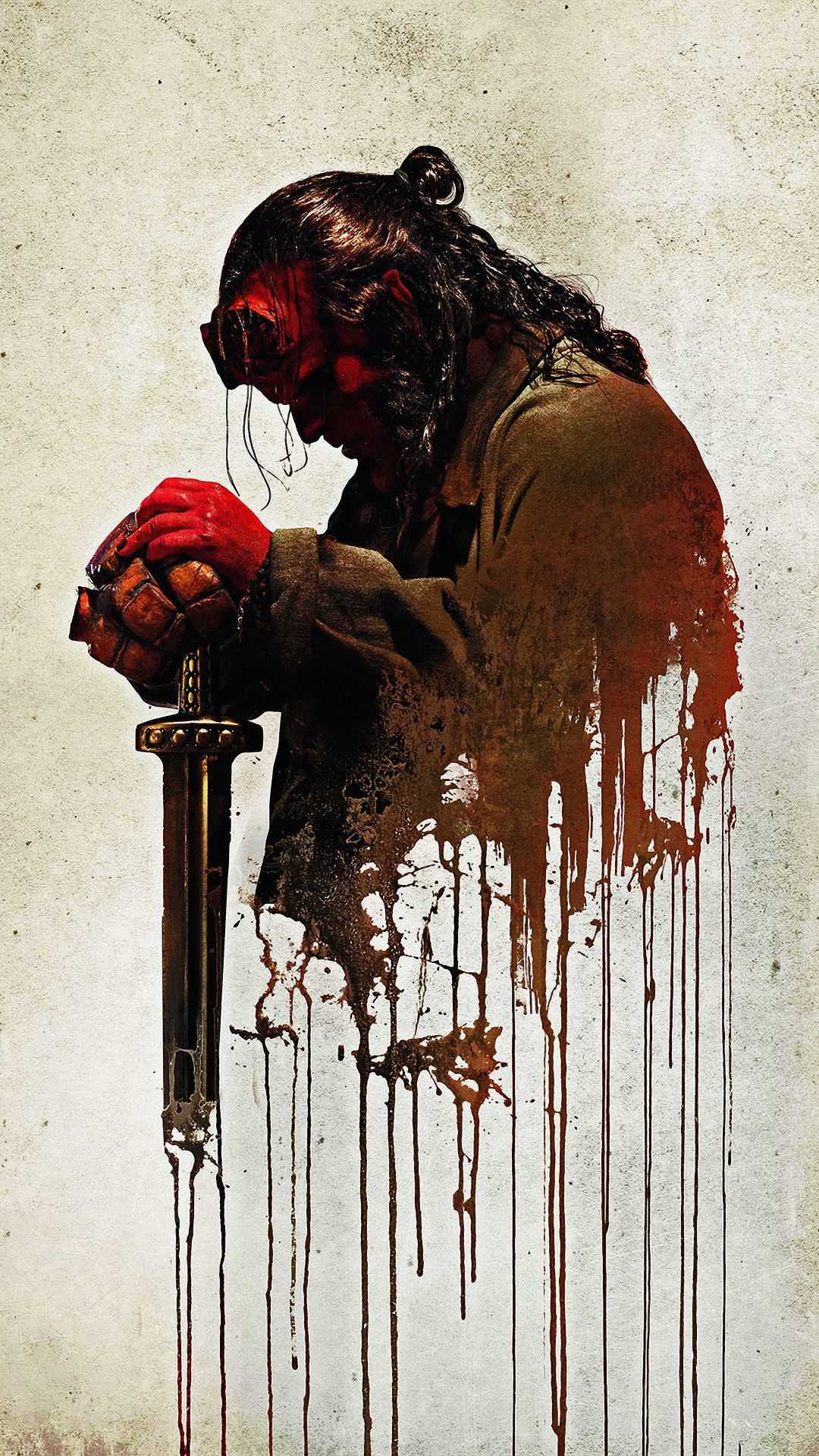 Hellboy Sword iPhone Wallpaper