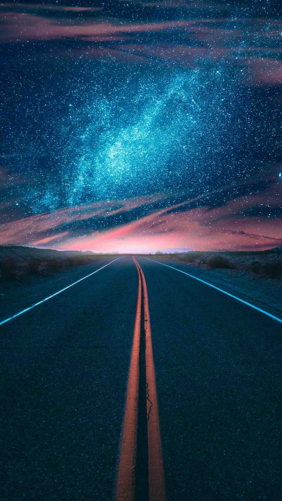Highway to the Universe iPhone Wallpaper