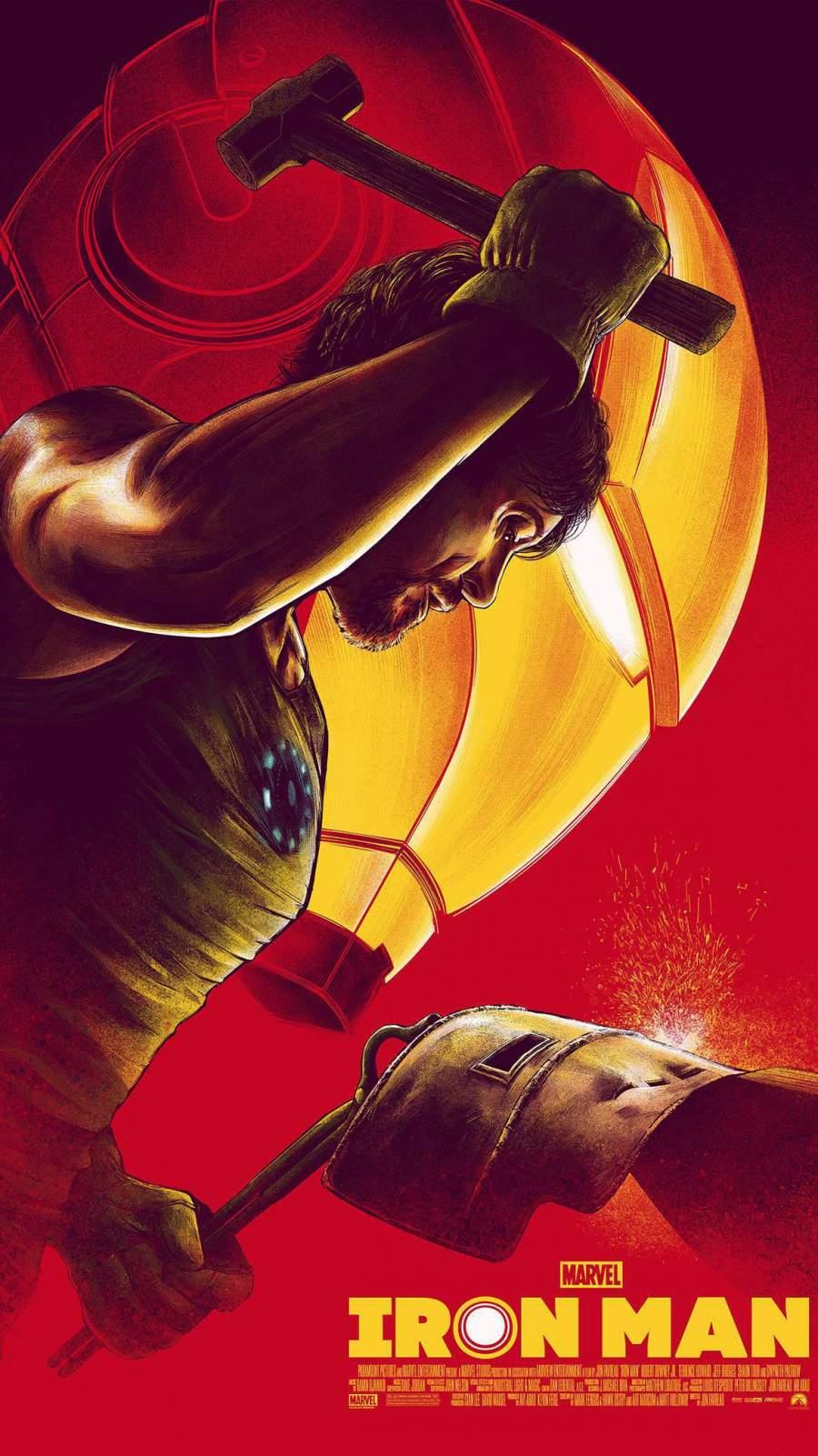 History of Iron Man iPhone Wallpaper