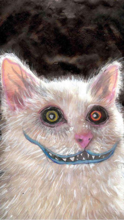 Horror Cat iPhone Wallpaper