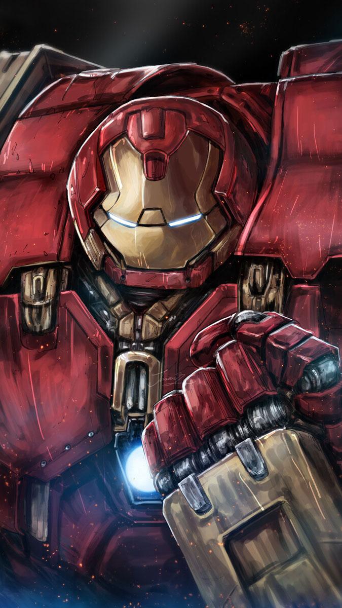 Hulkbuster Art iPhone Wallpaper