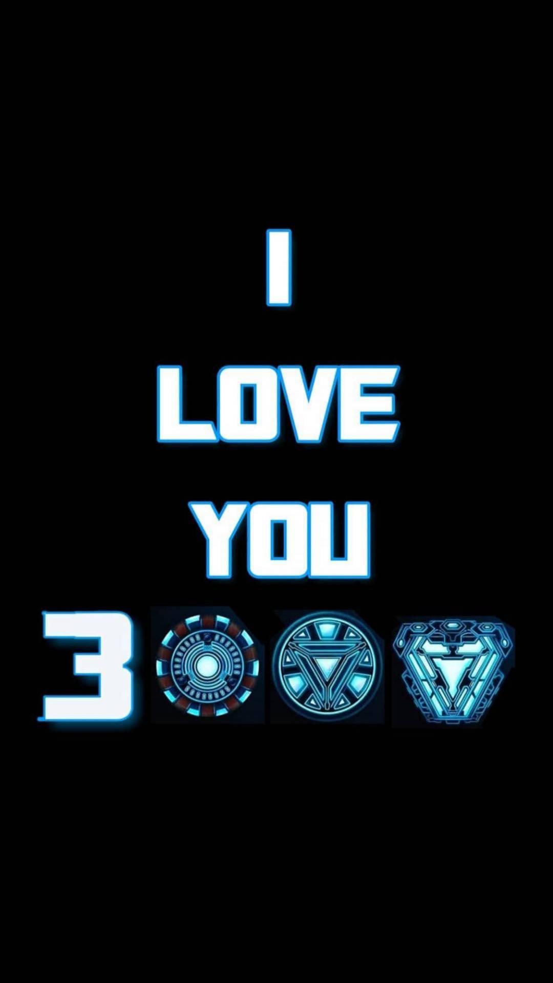 I Love You 3000 Iron Man Avengers iPhone Wallpaper