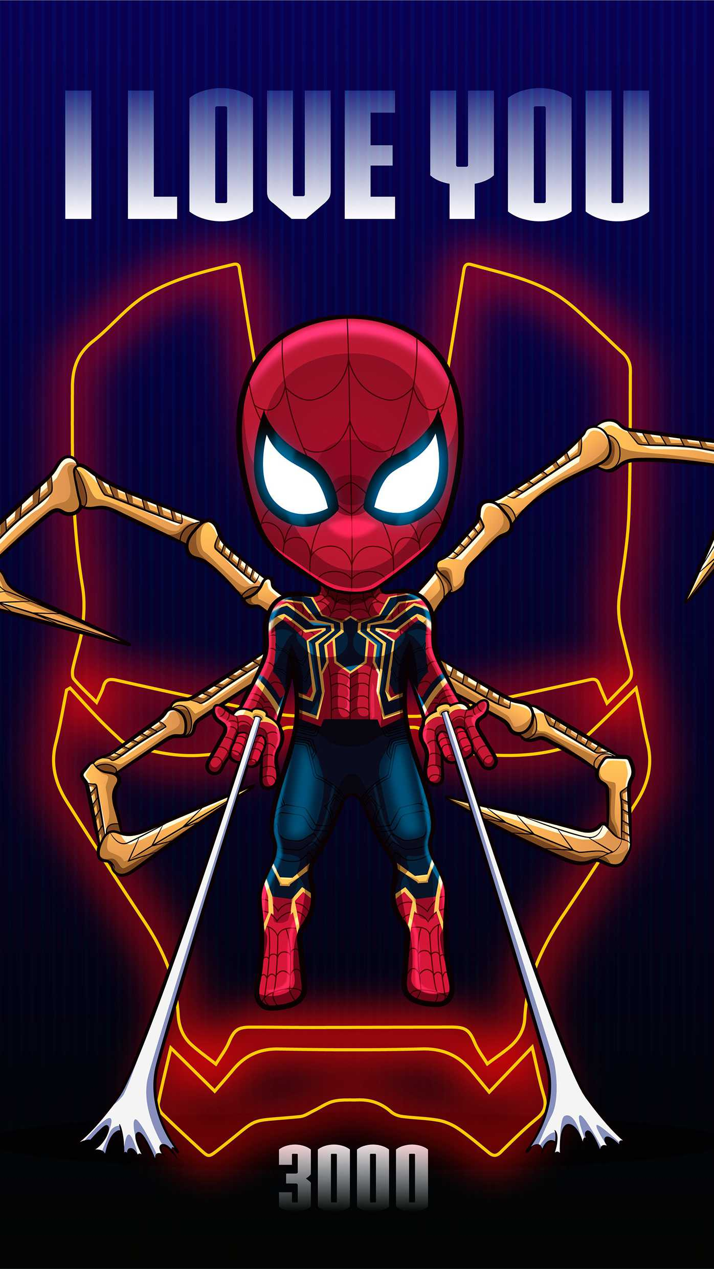 I Love You 3000 Iron Spider iPhone Wallpaper