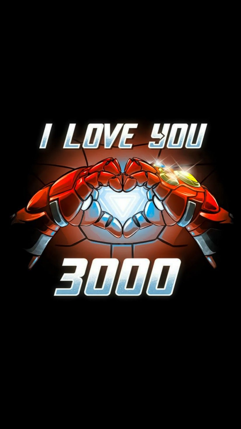 I Love You 3000 Times Iron Man iPhone Wallpaper