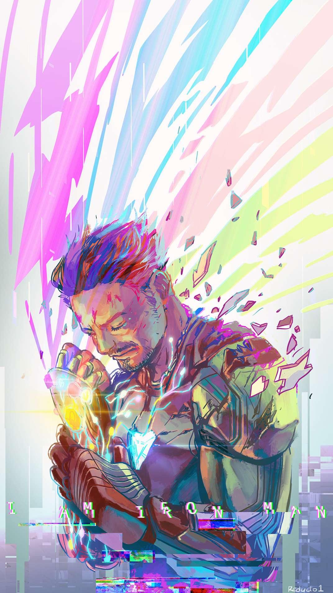 I am Iron Man Art iPhone Wallpaper