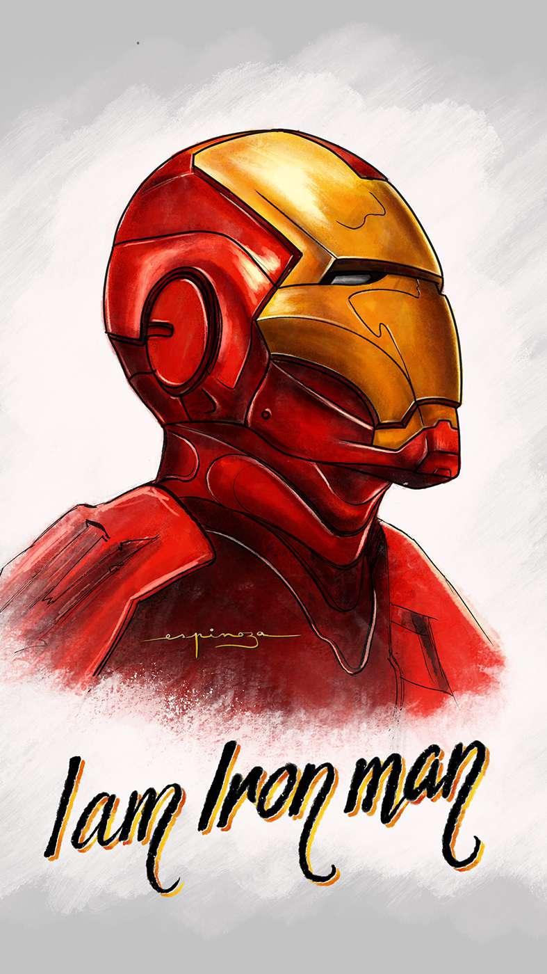 I am Iron Man Artwork iPhone Wallpaper