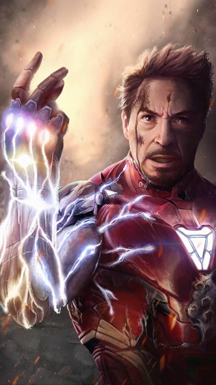 I am Iron Man Endgame Tony Stark Snap iPhone Wallpaper