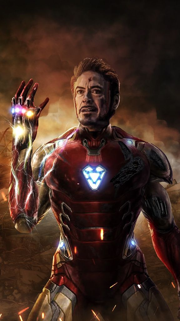 I am Iron Man Infinity Stone Snap iPhone Wallpaper