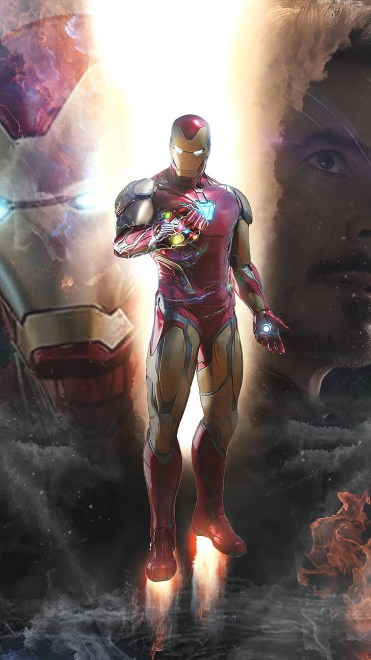I am Iron Man Snap infinity Stones MK 85 Armor iPhone Wallpaper